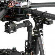 drone pronto al volo per riprese video aeree con gimbal stabilizzata a 3 assi per dslr, canon 5d, blackmagic e Red Epic
